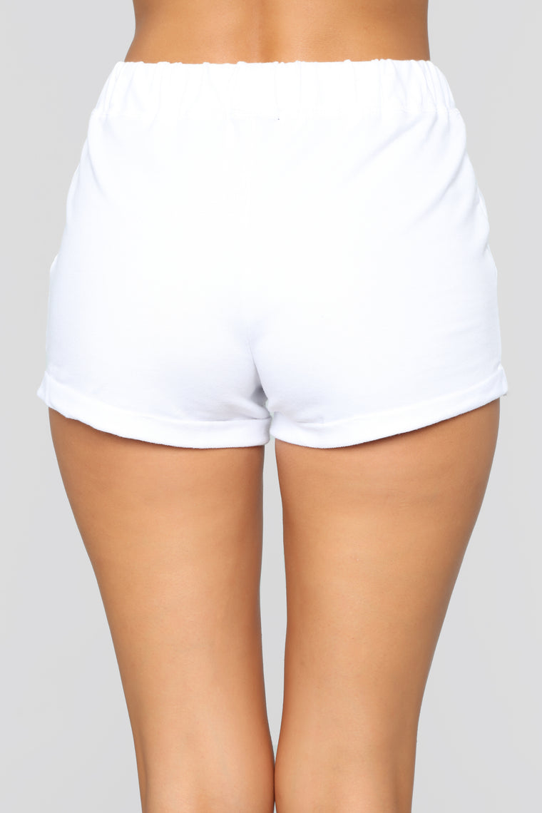 Kassidy Roll Up Shorts - White