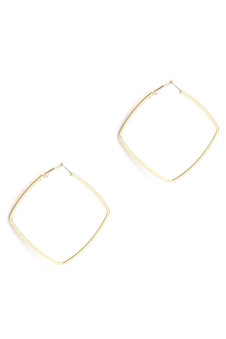 All Four Corners Earrings - Gold