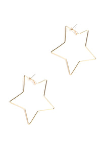 The North Star Earrings - Gold