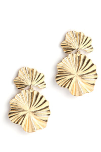 Texture Back Earrings - Gold Angle 3