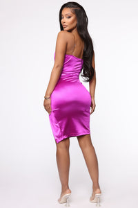 Don't Doubt Me Midi Dress - Purple Angle 5