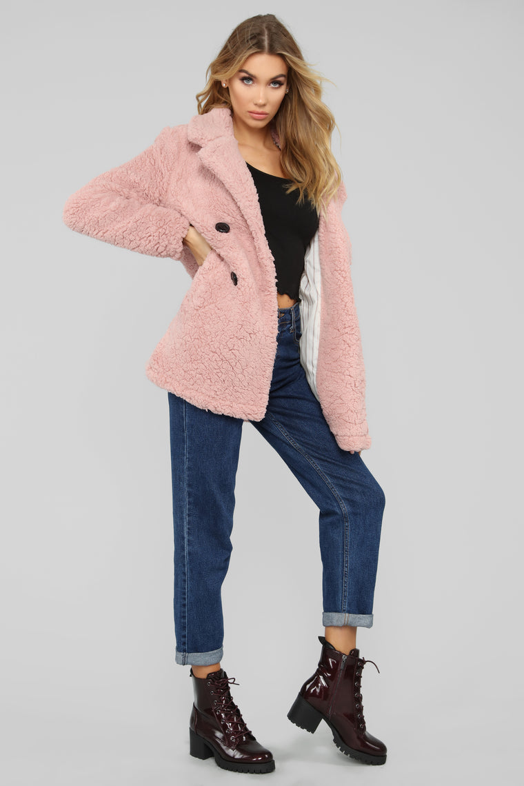 Haute To Thot Coat - Pink