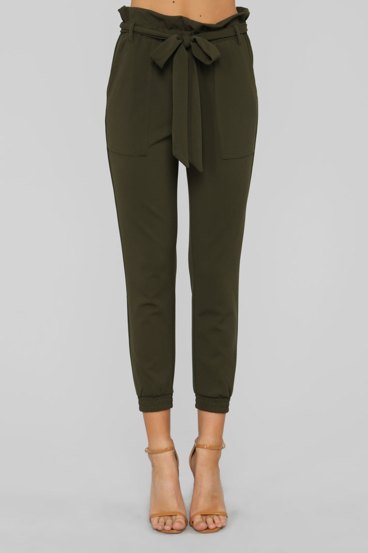 Keepin' It Up Pants - Olive