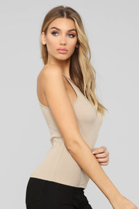 Demi Racer Back Cami - Taupe