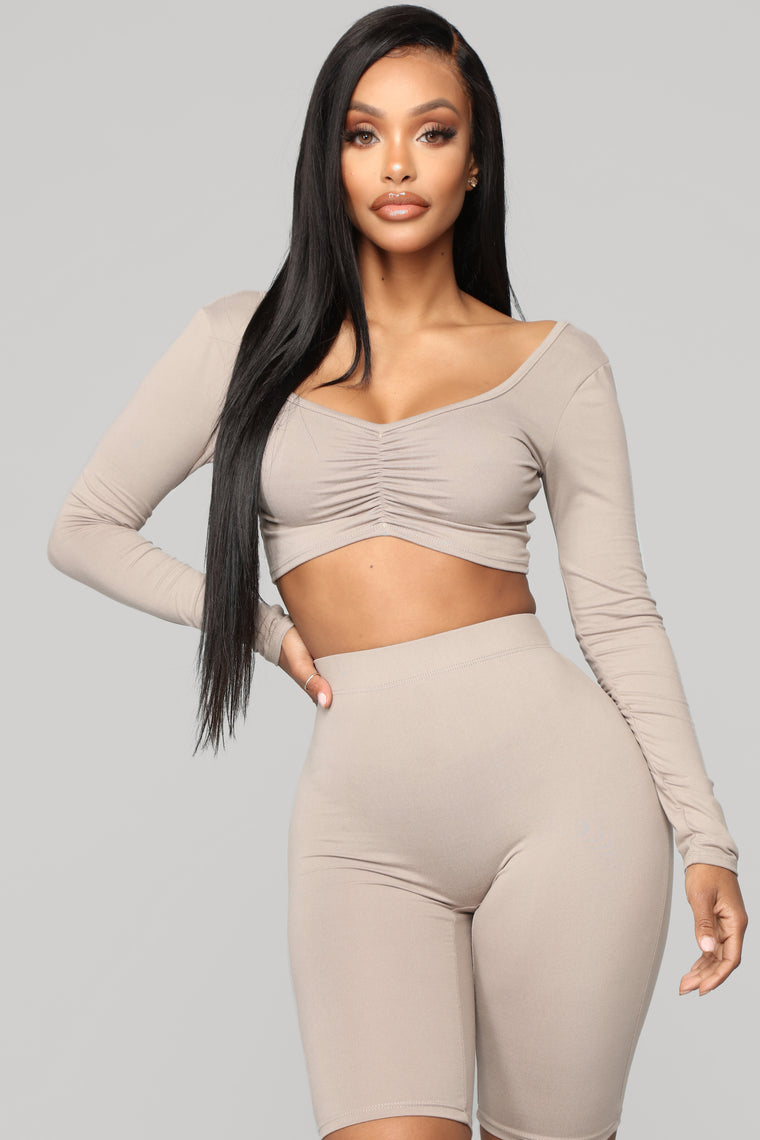 Loving You Is Easy Lounge Set - Taupe