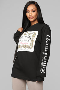 Hennything Is Possible LS Top - Black Angle 1