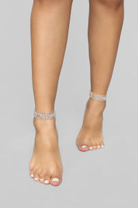 Pointing Arrows Anklet Set - Gold