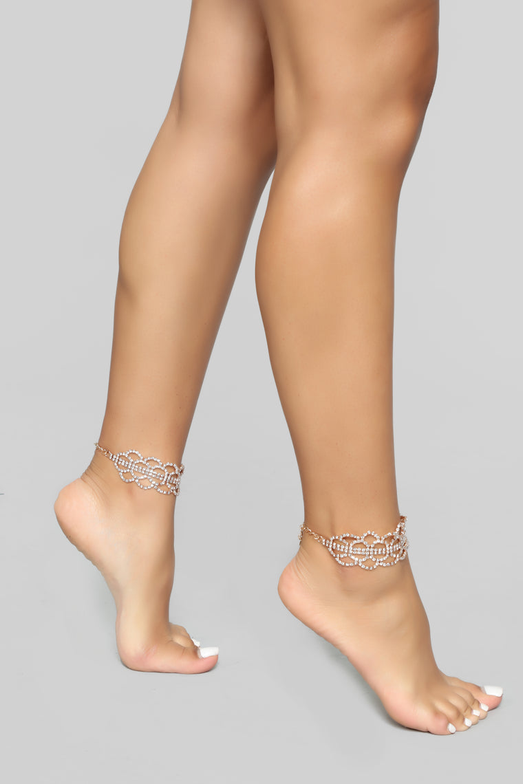 Drip Drip Anklet Set - Gold