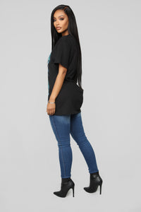 Try Again Tunic Top - Black