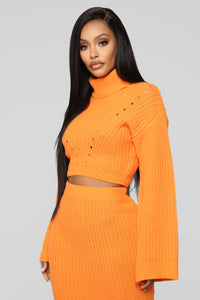 Warm Me Up Skirt Set - Orange Angle 2