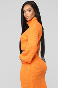 Warm Me Up Skirt Set - Orange Angle 4