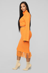 Warm Me Up Skirt Set - Orange Angle 3
