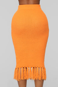 Warm Me Up Skirt Set - Orange Angle 6