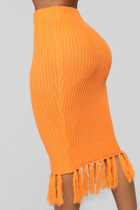Warm Me Up Skirt Set - Orange Angle 7