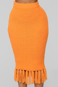 Warm Me Up Skirt Set - Orange Angle 8