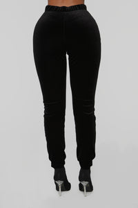 Velvet Cutie Pant Set - Black