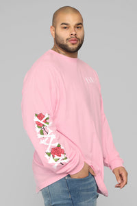 Paris Long Sleeve Tee - Pink/Combo Angle 15
