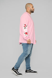 Paris Long Sleeve Tee - Pink/Combo Angle 11