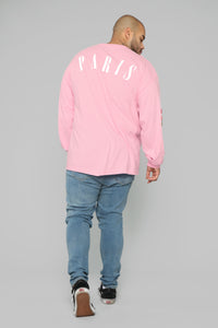 Paris Long Sleeve Tee - Pink/Combo Angle 10