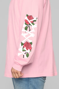 Paris Long Sleeve Tee - Pink/Combo Angle 12