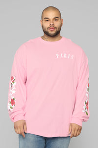 Paris Long Sleeve Tee - Pink/Combo Angle 8