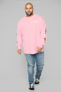 Paris Long Sleeve Tee - Pink/Combo Angle 13