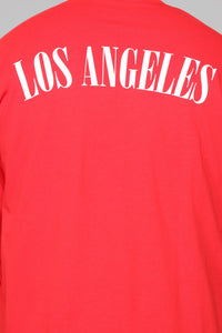 Los Angeles Long Sleeve Tee - Red/White