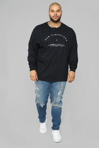 New Dimensions Long Sleeve Tee - Black/White