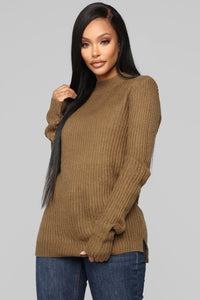 Don't Speak Sweater - Olive