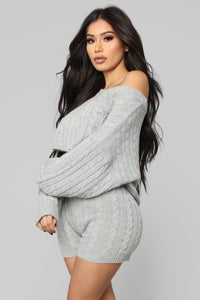 Melrose Sweater Set - Grey