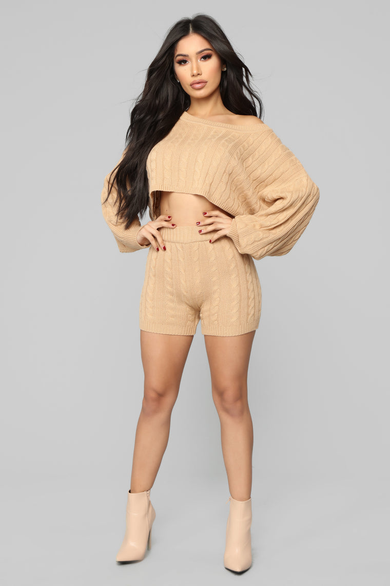Melrose Sweater Set - Camel