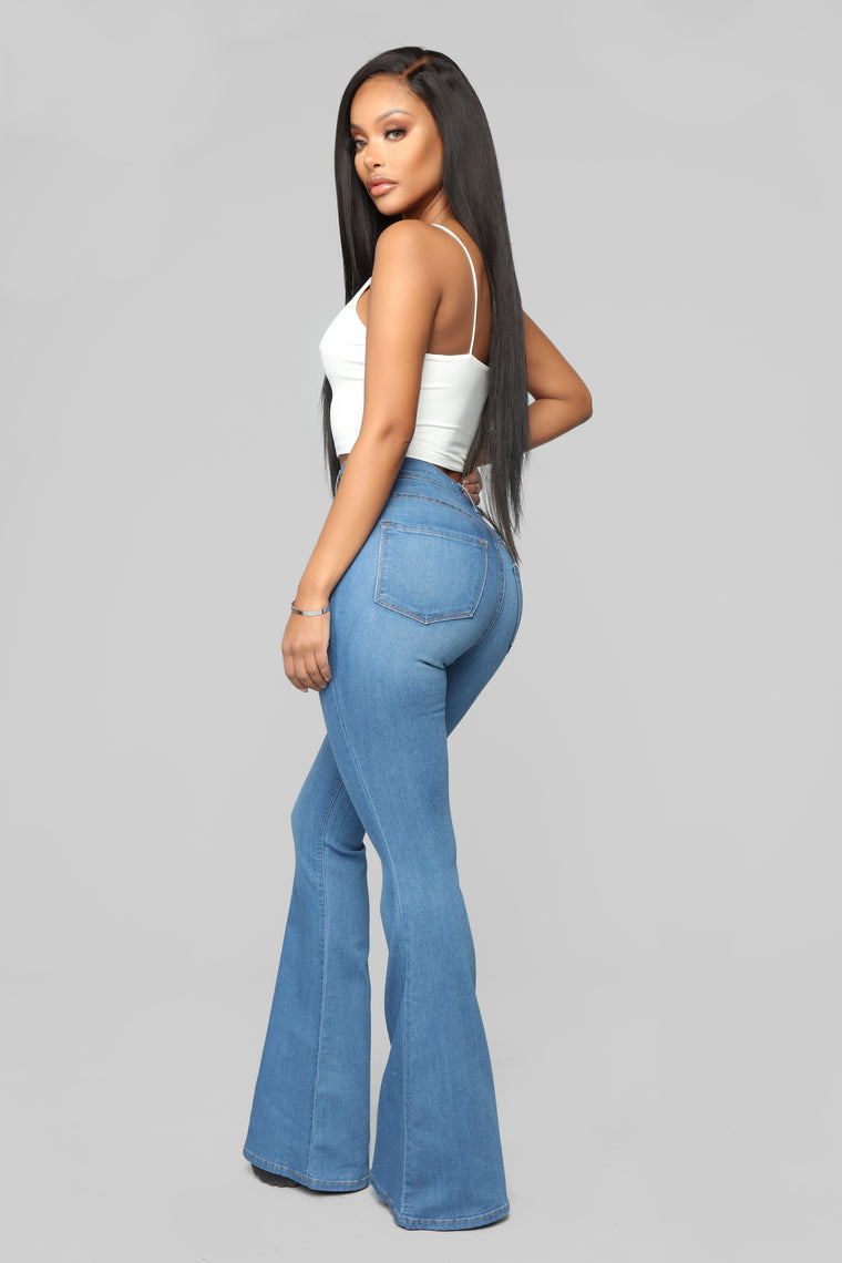 Deep In My Soul Flare Jeans - Medium Blue Wash