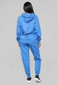 Stole Your Boyfriend's Oversized Hoodie - Blue