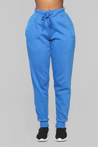 Stole Your Boyfriend's Oversized Jogger - Blue