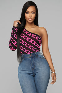 Off The Chain Bodysuit - Pink/Combo