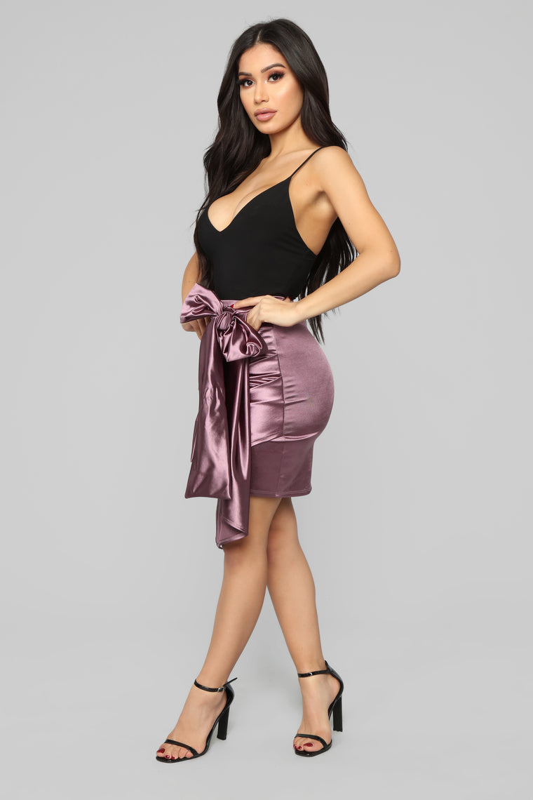 Sheen Queen Skirt - Plum