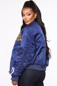 Too Cool Reversible Bomber Jacket - Navy