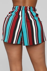 Malibu Lagoon Striped Shorts - MultiColor Angle 5