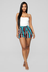 Malibu Lagoon Striped Shorts - MultiColor Angle 2