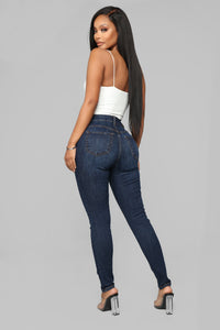 Best Girl Around Skinny Jeans - Dark Denim