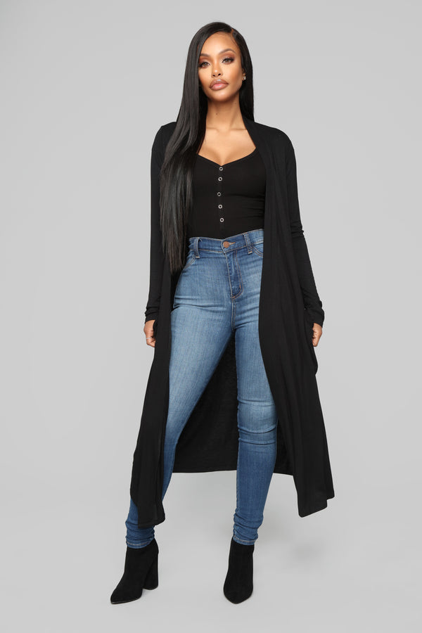 2ae069573a7f54 As Per Usual Cardigan - Black