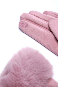 All Fur Love Gloves - Rose