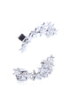 Shooting Star Ear Cuff Set - Silver