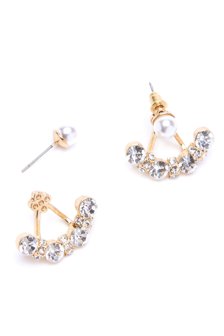 Diamonds And Pearls Earrings - Gold