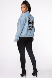 Baby Mama Denim Jacket - Medium Wash