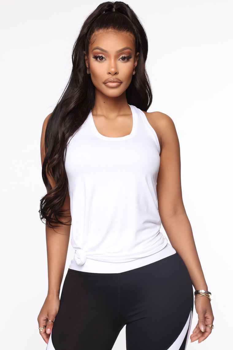Jump To It Active Muscle Tank In Power Flex - White
