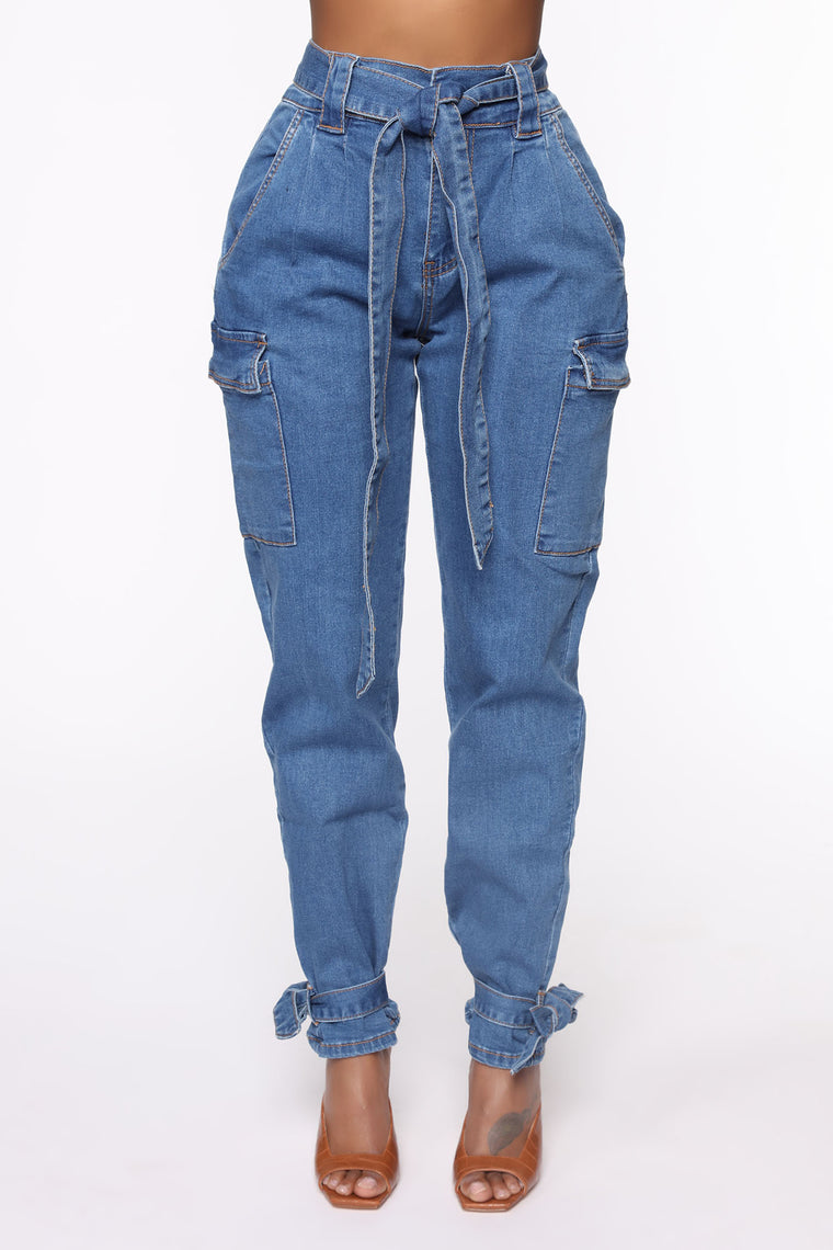 Never Quit High Rise Jeans - Medium Wash