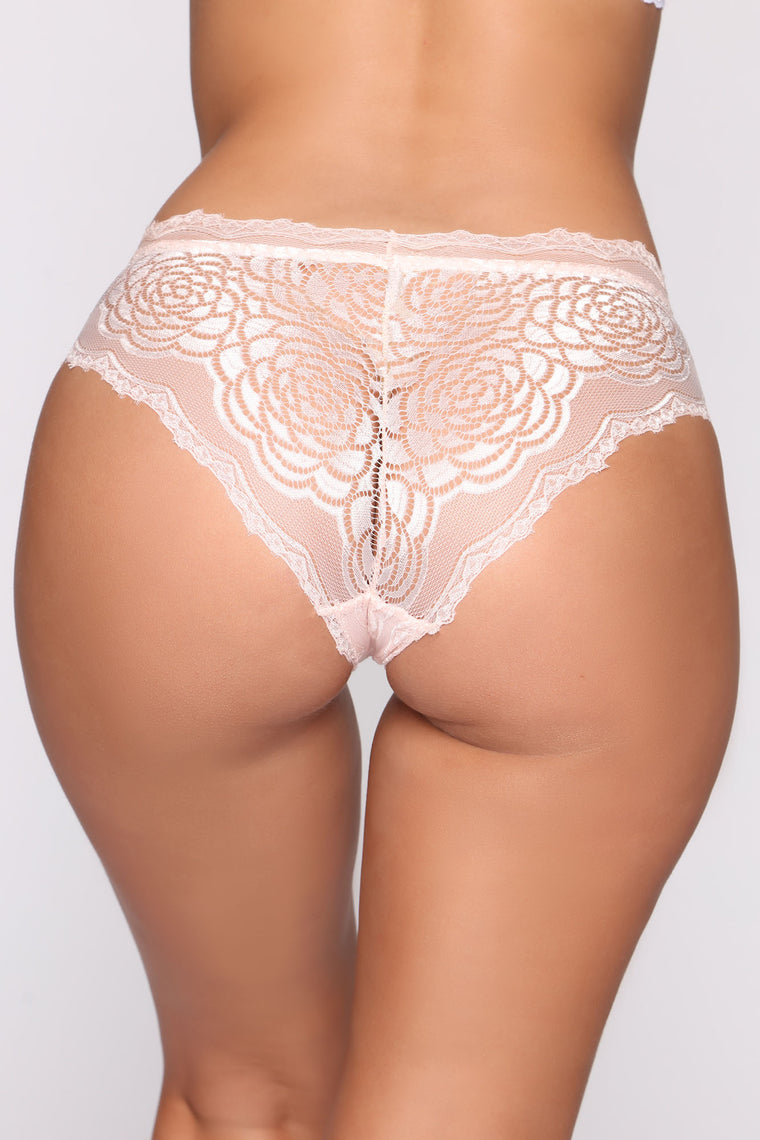 On The Daily Lace Hipster Panty - Pink