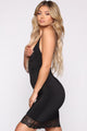 Shaped And Dressed Shapewear Slip Dress - Black