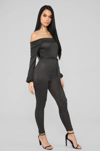 Cozy With You Jumpsuit - Black